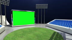 Zooming Score board of Sport stadium, included Chroma, alpha, sport broadcasting Stock Footage