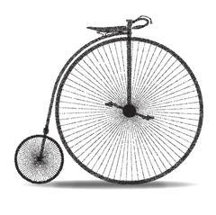 Penny Farthing Dot Silhouette Stock Illustration