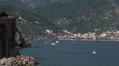 Maiori, Amalfi coast, campania Italy Stock Footage