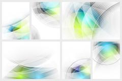 Set of abstract glowing background with space for your content. - stock illustration