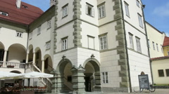 The Landhaus building in Klagenfurt, Carinthia, Austria Stock Footage