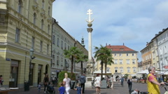 The Alter Platz in Klagenfurt, Carinthia, Austria Stock Footage