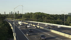 Highway 403 or King's Highway 403 in Ontario, Canada Stock Footage