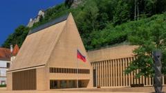 Parliament  in Vaduz, Principality of Liechtenstein, Europe - stock footage