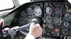 Female hand operated plane, close up Stock Footage
