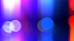 4K Bright Flashing Light Backdrop, Blur and Red Blue Bokeh Stock Footage