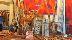 Australia Sydney Manly aboriginal art Stock Footage