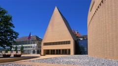 Parliament  in Vaduz, Principality of Liechtenstein, Europe Stock Footage