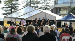 Australia Sydney Manly Jazz Festival Stock Footage
