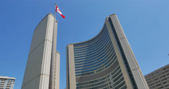 Toronto City Hall at Nathan Phillips Square Stock Footage