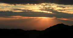Sunset from mountain top beautiful landscape DCI 4K Stock Footage