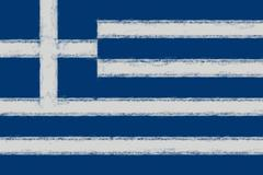 Greek Flag Smudged Stock Illustration