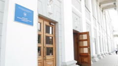 1 august 2016, Russia, Kazan - view of Kazan Federal University - stock footage