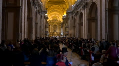 Buenos Aires Cathedral, singing choir - stock footage