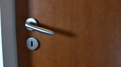 Someone Is Trying To Open A Locked Door, Working Hard The Doorknob, Detail Stock Footage