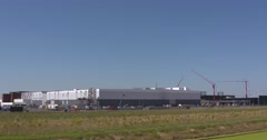 Google building, datacenter in Groningen Seaport Eemshaven Stock Footage