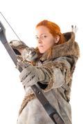 Girl archer Stock Photos