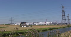 Google data center in dataport Eemshaven Stock Footage