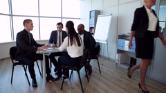 Meeting in the Spacious Office - stock footage