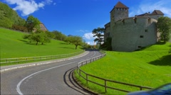Schloss Vaduz Castle, Principality of Liechtenstein, Europe Stock Footage