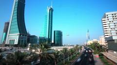 Bahrain Financial Harbour - timelapse tilting up Stock Footage
