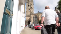 St Marys Church, Warwick Stock Footage