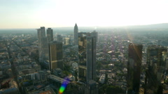 4K Skyline Frankfurt am Main Financial Center Bank building skyscraper Germany Stock Footage