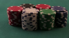 Crazy Poker Player. Casino Chips Stock Footage