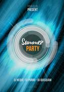 Summer party poster with abstract background. Vector illustration EPS10 Stock Illustration