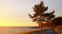 Hel Peninsula in northern open Baltic Sea Stock Footage