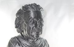 3D printed Albert Einstein Bust Stock Photos