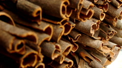 Spices Cinnamon Sticks Stock Footage
