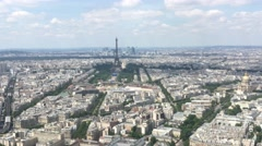 Famous Eiffel Tower And City of Paris Aerial Shot, 4k Stock Footage