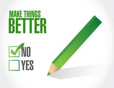 No Make Things Better approval sign concept Stock Illustration