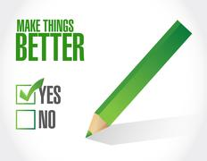 Make Things Better approval sign concept Stock Illustration