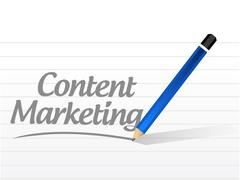Content marketing message sign concept Stock Illustration