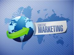 Content marketing global sign concept Stock Illustration