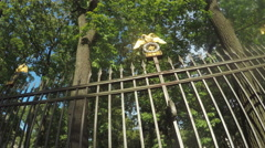 Fence Garden Anichkov Palace Stock Footage