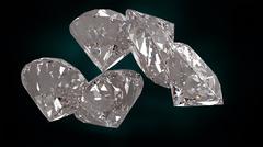 Great diamonds 3d rendering - stock illustration