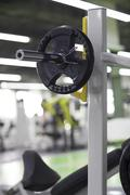 Exercise equipment in gym Stock Photos