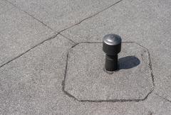 Aerator - flat roof ventilation. - stock photo
