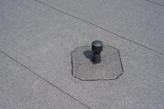 Aerator - flat roof ventilation. Stock Photos