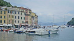 Ligurian Sea View from Portofino Italy - Editorial - 29,97FPS NTSC Stock Footage