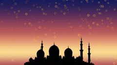 Ramadan Kareem islamic background. Stock Footage