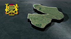Mayo-Kebbi Est with Coat Of Arms Animation Map - stock footage