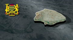 N Djamena - capital with Coat Of Arms Animation Map Stock Footage