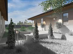 Project of a luxury villa under construction Stock Illustration