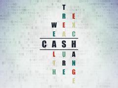 Money concept: Cash in Crossword Puzzle - stock illustration