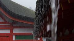 Heavy rain in Japan. - stock footage