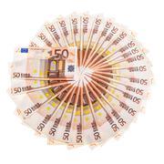 Euro money circle Stock Photos